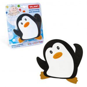 Мини коврик Пингвин на присосках 13*13см K619