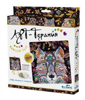 Набор для творчества Origami Арт терапия Алмазные узоры Ночной Волк 20*20 см 03214