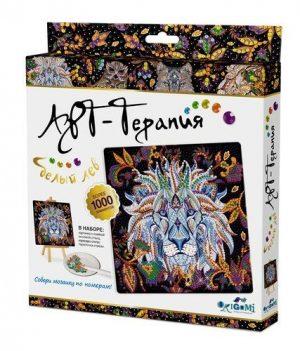 Набор для творчества Origami Арт терапия Алмазные узоры Белый лев 20*20 см 03217