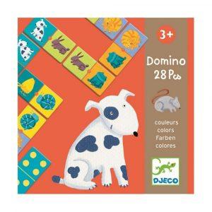 DJECO Настольная игра Домино Цветные животные 08111