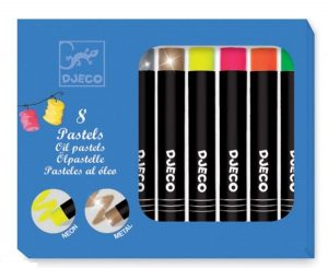 DJECO Набор пастельных карандашей 8 ярких цветов 09749