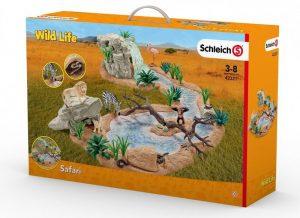 SCHLEICH Большой набор Сафари Приключение на водопое с животными 42321