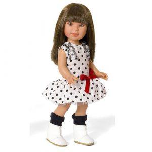 Кукла Vestida de Azul Паулина брюнетка с челкой Весна Техас PAU-813