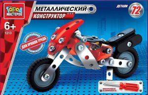 Конструктор Город Мастеров Мотоцикл 72 детали WW-1213-R