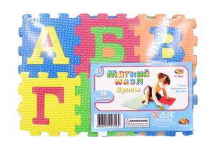 Коврик пазл AB Toys Мягкие пазлы Изучаем буквы 36 предметов 25