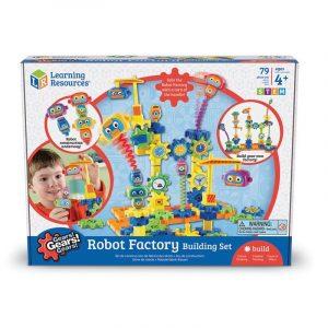 Научный набор Learning Resources Gears Волшебные шестеренки Фабрика роботов 79 деталей LER9225