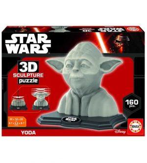 3D Скульптурный пазл Йода 160 деталей 16501