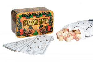 Настольная игра Нескучные игры Русское лото в жестяной коробке 7931 3+