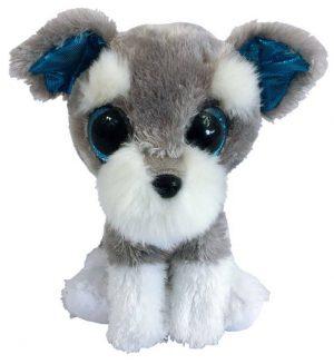 Мягкая игрушка ABtoys Собачка серая 15см М0022
