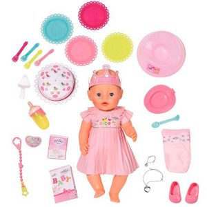 Интерактивная кукла BABY born Нарядная с тортом 43 см 825-129
