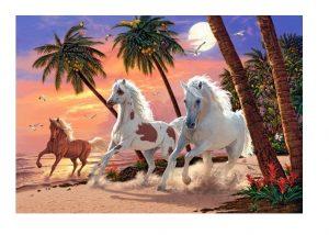 Пазлы Castorland Белые лошади 1000 деталей С-151691
