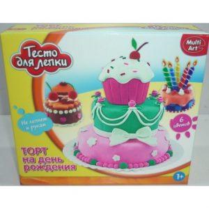 Тесто для лепки MULTIART Торт 6 цветов формочки B1091660-PD