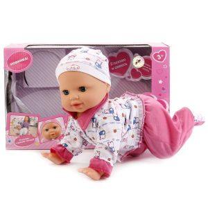 Кукла Карапуз 40 см 4 функции ползает двигает головой смеется плачет BAE3599-01-RU