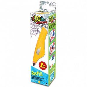 Картридж для 3D ручки Вертикаль цвет желтый 156019