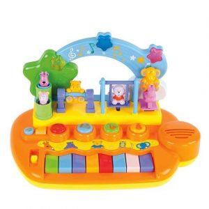 Музыкальный центр Жирафики Парк развлечений 14 мелодий и звуков животные крутятся на карусели 939401