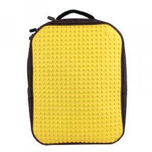 Пиксельный рюкзак большой ортопедическая спинка Canvas classic pixel Backpack WY-A001 желтый 80000