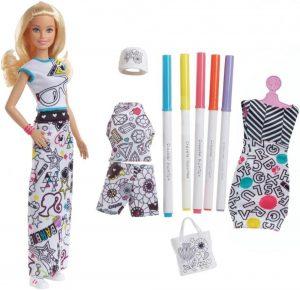 Игрушка Barbie + Crayola одежда раскраска FPH90