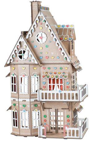Сборная игрушка из дерева Пряничный домик Д-012