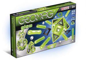 Магнитный конструктор GEOMAG Glow 104 детали 337
