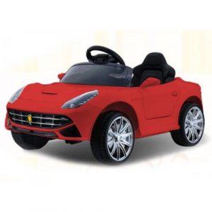 Детский электромобиль О222ОО красный кожа