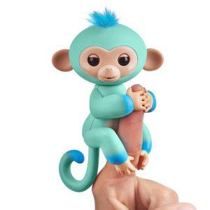 Интерактивная обезьянка Fingerlings Эдди голубая 12 см 3724