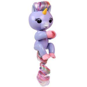 Интерактивный единорог Fingerlings Алика пурпурный 12 см 3709