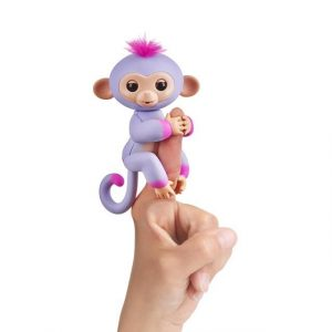 Интерактивная обезьянка Fingerlings Сидней пурпур и розовая 12 см 3721