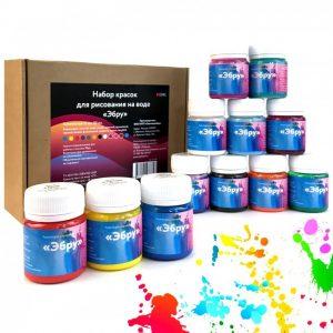 Набор красок для рисования на воде Эбру kp1008