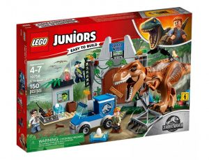 Игрушка LEGO Juniors Jurassic World Побег Ти Рекса 10758