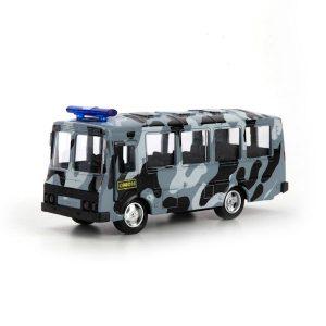Автобус Технопарк Омон металлический инерционный X600-H09136-R