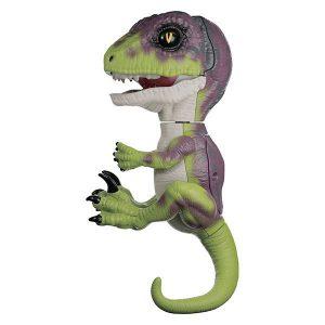 Интерактивный динозавр Стелс зеленый с фиолетовым 12 см 3782