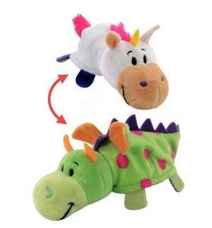Мягкая игрушка Вывернушка 1Toy Единорог Дракон 2 в 1 35 см Т10927