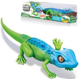Игрушка RoboAlive Робо ящерица сине-зеленая 40*13*10 см Т10993