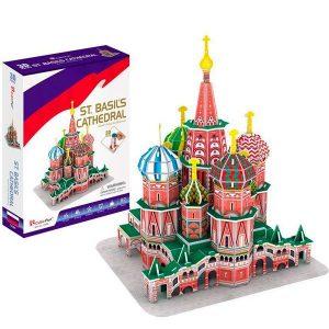 Игрушка Cubic Fun Собор Василия Блаженного Россия C239h