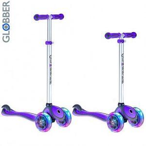 Самокат GLOBBER PRIMO PLUS c 3 светящимися колесами Purple 442-103
