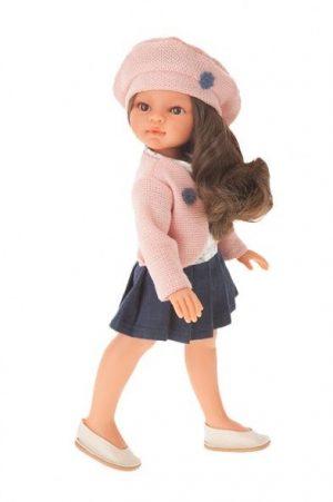 Кукла Antonio Juan Эльвира в берете брюнетка 33см 2587В