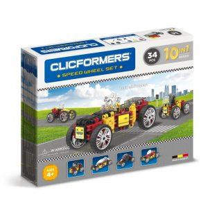 Развивающий конструктор CLICFORMERS Speed Wheel Set 34 детали 803001
