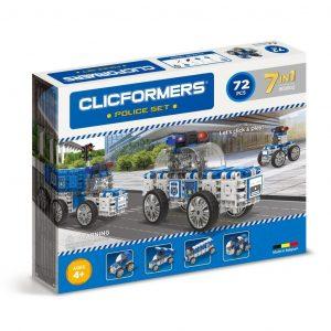 Развивающий конструктор CLICFORMERS Police set 72 детали 802002