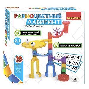 Развивающие игры BONDIBON Динамический конструктор Разноцветный лабиринт 36 деталей ВВ2742