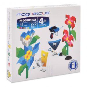 Миди мозайка MAGNETICUS Цветы 272 элемента 11 цветов MM-012