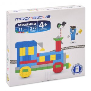 Миди мозайка MAGNETICUS Поезд 272 элемента 11 цветов MM-013
