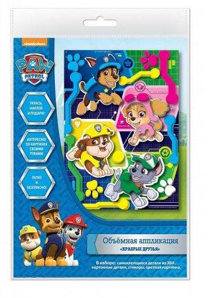 Набор для творчества Щенячий патруль 3D картинка Храбрые друзья 18*25 см 34861