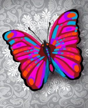 Алмазная картина Color Kit Чудо-бабочка М016