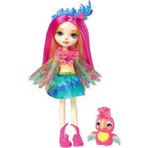 Кукла Enchantimals с любимой зверюшкой Пикки Какаду FJJ21
