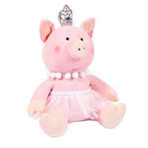 Мягкая игрушка ABtoys Свинка принцесса с короной 22 см 19925