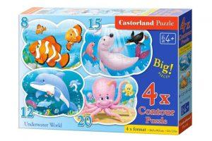 Пазл Castorland Подводный мир 8#12#12#15#20 деталей В-043026 4+