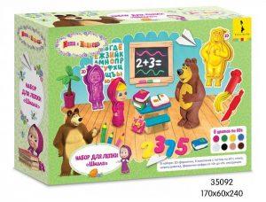 Набор для лепки Маша и Медведь Школа 35092