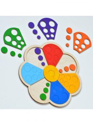 Мозаика сортер RADUGA KIDS Цветик семицветик RK1013