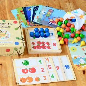 Мозаика деревянная RADUGA KIDS 19 карточек RK1005