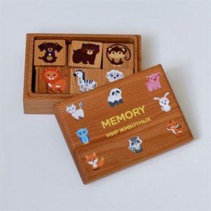 Дидактический набор RADUGA KIDS Мемори Мир животных в коробочке